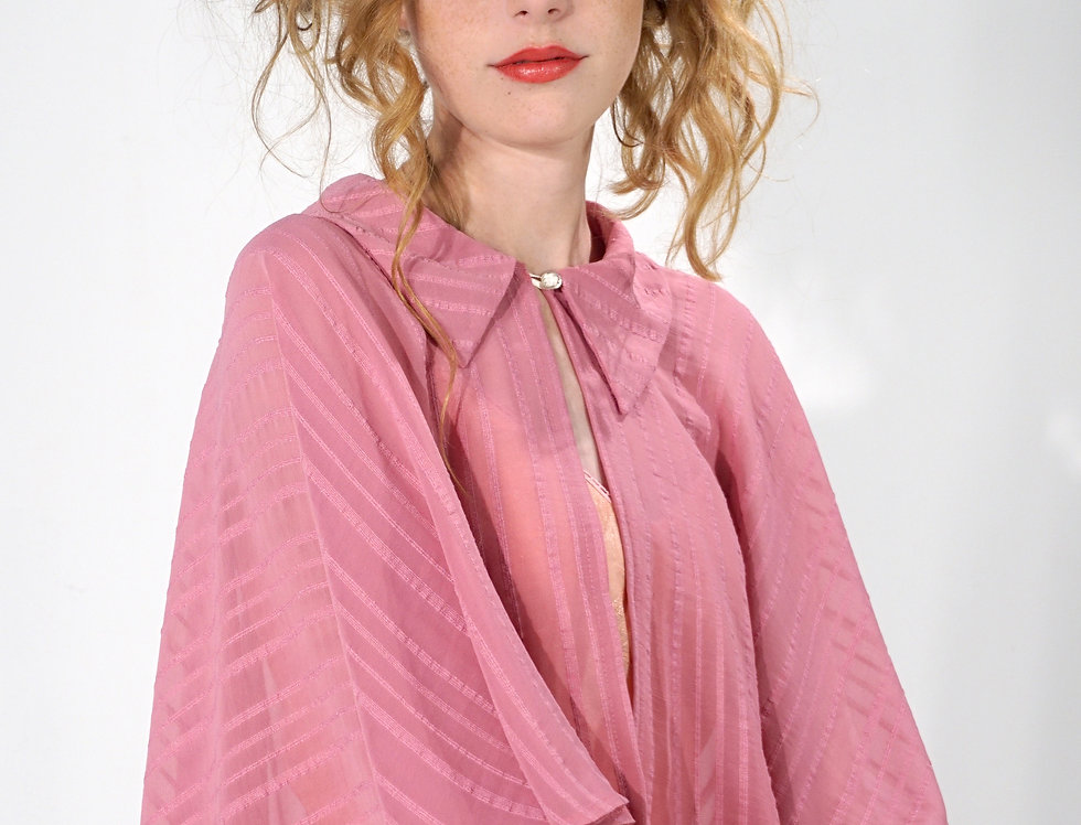 Pink Cape with Collar