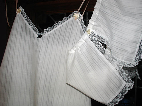 White short nightgown and shorts