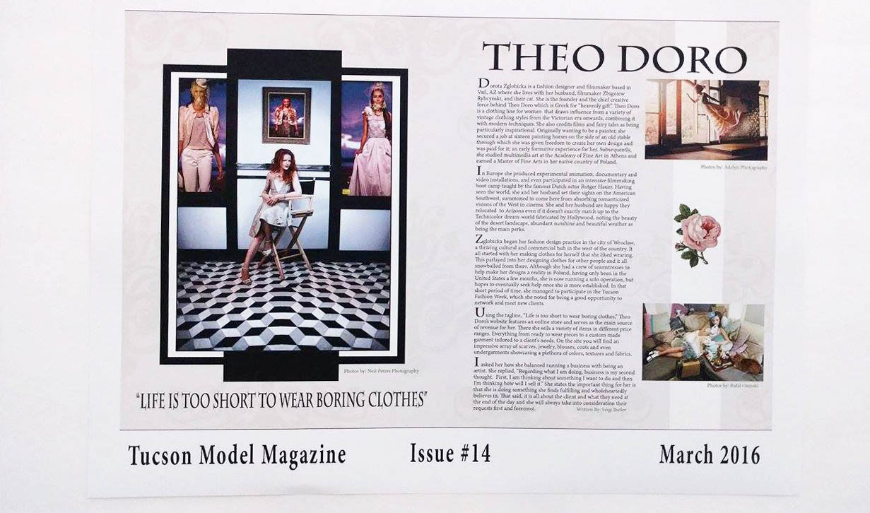 Tucson Model Magazine, Theo Doro