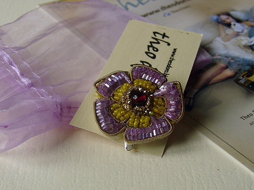 Vintage Flower hairpin and brooch in one