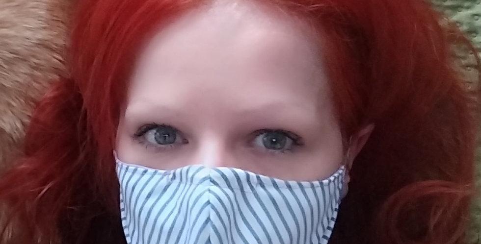 Reversible Mask: Stripes-Lavender