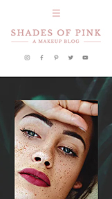 Móda a krása website templates – Makeup Blog
