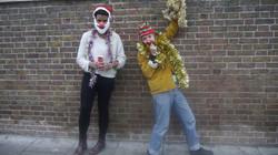 Christmas Clowns; Walk About Town