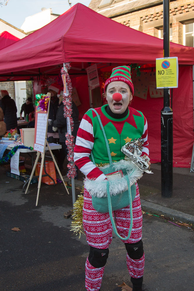 Christmas Clowns; Walk About Town
