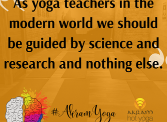 Yoga Teachers should be guided by Science. And NOTHING else.