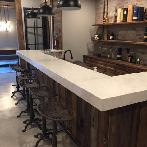 Bar Clad in Oak Paneling