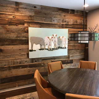 Barnwood Accent Wall   Dining Room