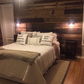 Reclaimed Wood Accent Wall   Bedroom