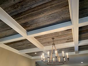 Gray Oak Paneling Ceiling