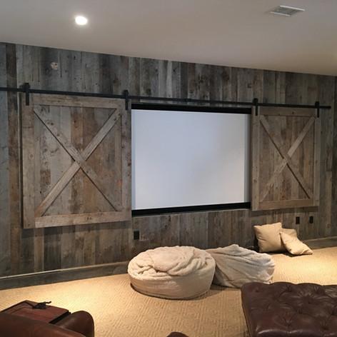TV Hide Barn Doors Set
