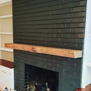 Fireplace Mantel | Maple Live Edge