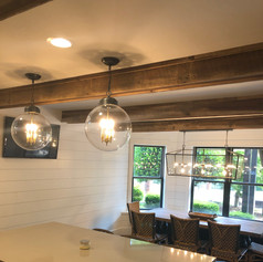 Kitchen Ceiling | Oak Box Beams