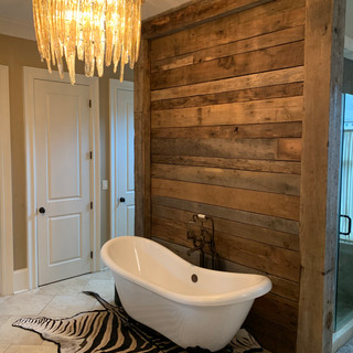 Bathroom Accent Wall   Chestnut Paneling