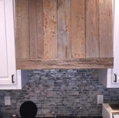 Reclaimed Wood Kitchen Hood