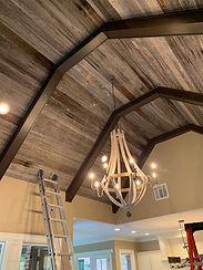 Gray Oak Ceiling Paneling