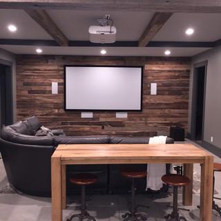 TV Wall | Barnwood Paneling