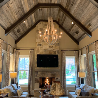 Vaulted Ceiling   Gray Oak Paneling