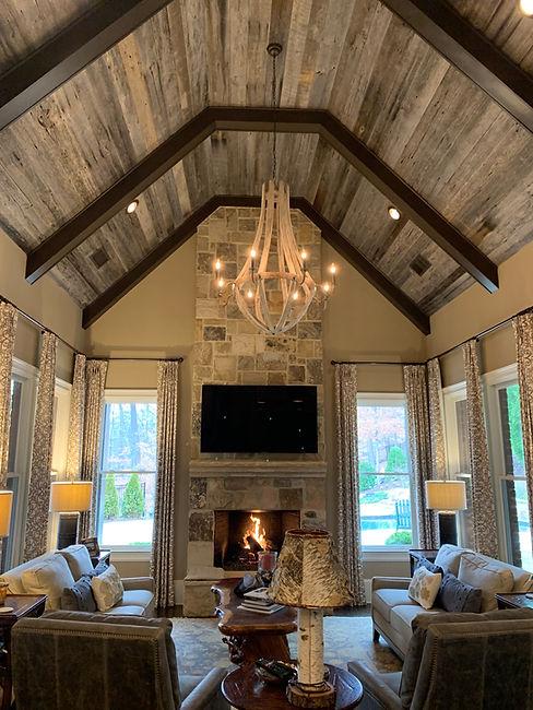 vaulted-ceiling-oak-paneling