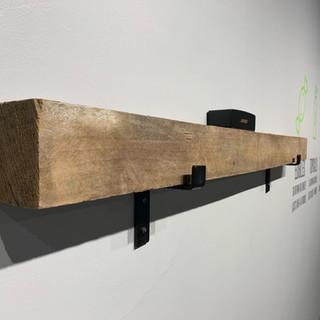 Hardwood Shelf With Brackets | The Hemp Farmacy