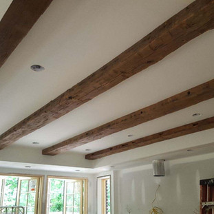 Hewn Oak Beams