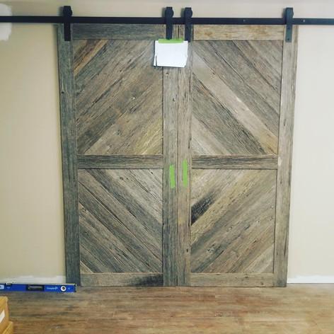 Diagonal Barn Door Design