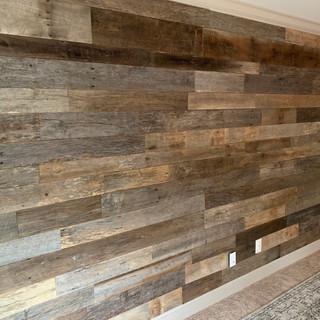 Bedroom Accent Wall   Barnwood Paneling