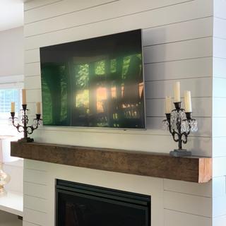 Fireplace Mantel-Shiplap | Rough Sawn Hardwood