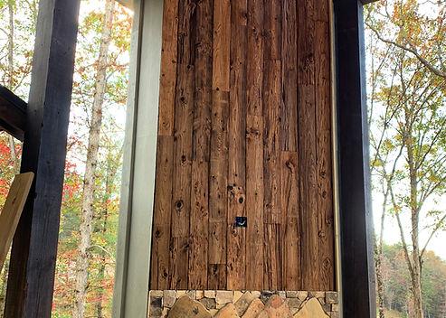 Mushroom Wood Over Fireplace- Blue Ridge