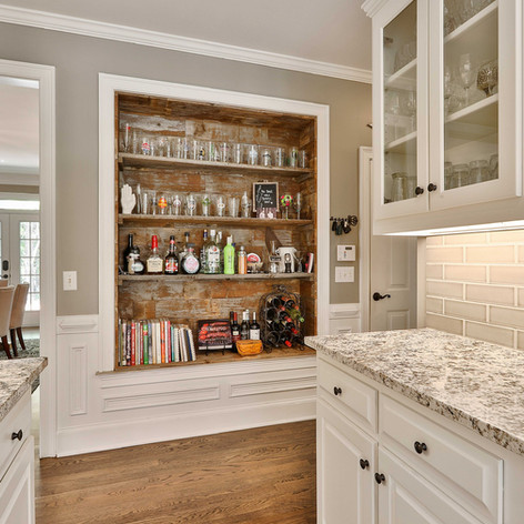 Kitchen Hutch | Reclaimed Wood Paneling