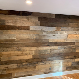 Barnwood Accent Wall | Living Room