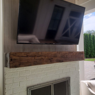 Outdoor fireplace mantle closeup.JPG