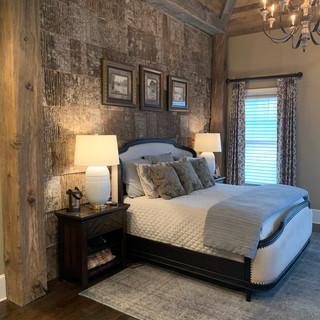 Bedroom Feature Wall   Poplar Bark Tiles