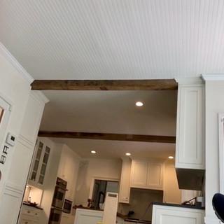 Kitchen Ceiling   Hardwood Box Beams
