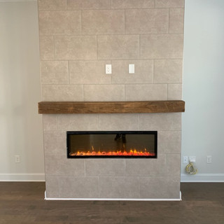 Modern Fireplace | Reclaimed Hardwood