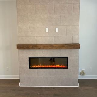 Modern Fireplace | Reclaimed Hardwood