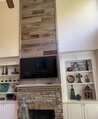 Fireplace Wall Urban Wood Paneling