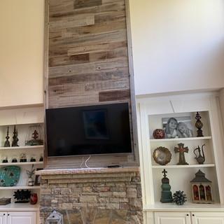 Fireplace Wall | Urban Wood Paneling