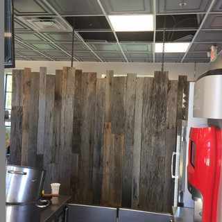 Barnwood Wall Partition | Snack Bar