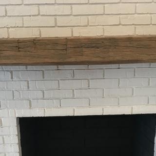 Fireplace Mantel | Hand Hewn Beam