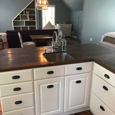 Kitchen Countertops | Repurposed Flooring