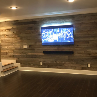 TV Wall | Reclaimed Wood Paneling