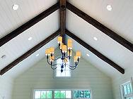 reclaimed beams in ceiling