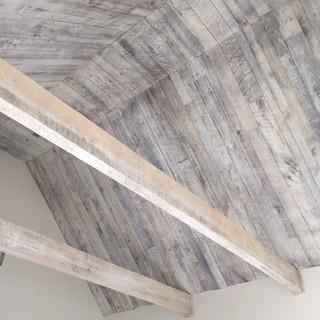 Whitewashed Ceiling | Shadow Paneling