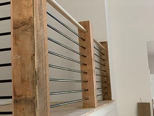 Staircase Box Post _ Brown Hardwoods