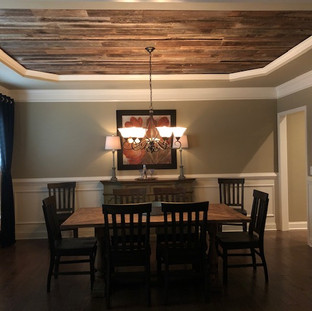Recessed Ceiling | Oak Paneling