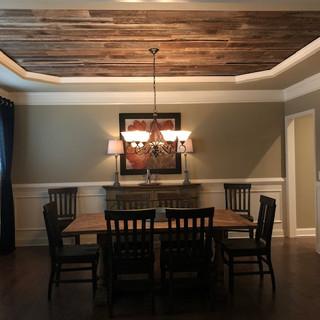 Recessed Ceiling | Oak Paneling