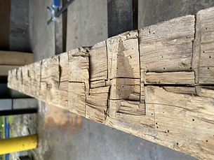 Hand Hewn Beam Face.HEIC