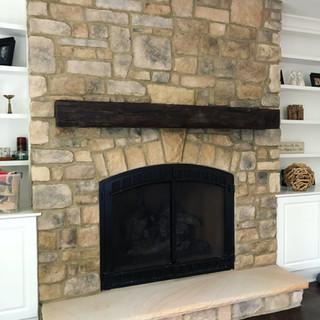 Fireplace Mantel | Hand Hewn Hardwood