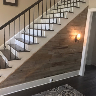 Staircase | Reclaimed Wood Wall Paneling