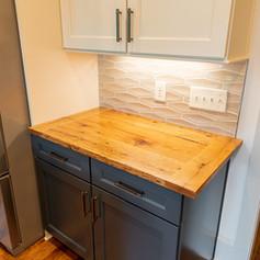 Oak bread board style kitchen countertop.JPG